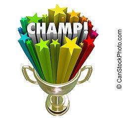 Champ Gold Trophy Award Winner Stars Fireworks