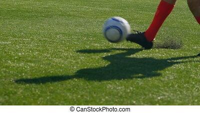 champ, pratiquer, football, 4k, joueurs