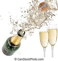 champaña, explosión