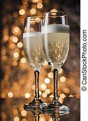 champaña, Flautas