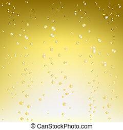 champaña, vector, plano de fondo