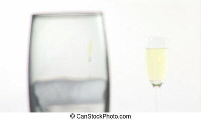 champagne, être, versé