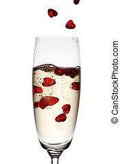 champagne., amour