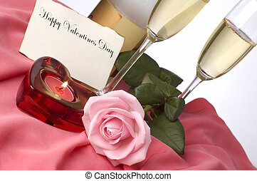 valentine - champagne arrangement for valentines day with...