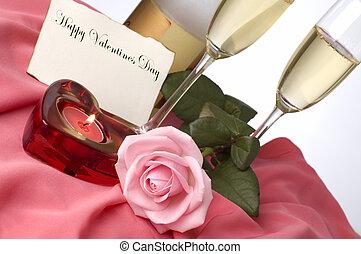 valentine - champagne arrangement for valentines day with...