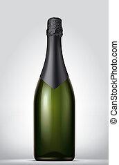 Champagne blank bottle