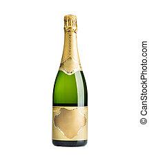 champagne, bottiglia