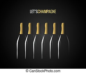 champagne bottle concept design background
