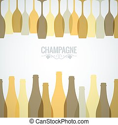 champagne bottle glass design background