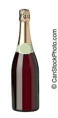 Champagne bottle isolated on a white background
