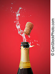 Champagne bottle opening