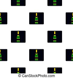 Champagne bottle pattern flat