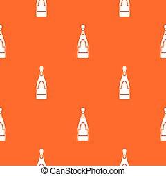 Champagne bottle pattern seamless