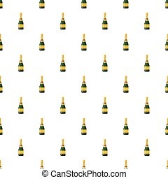 Champagne bottle pattern