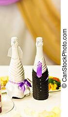 champagne bottles  for wedding day