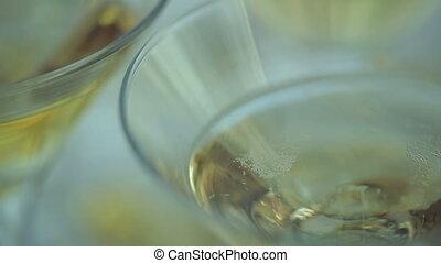 Champagne Bubbles in a Glass
