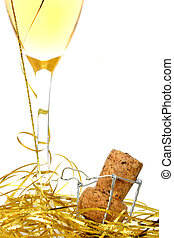 Champagne Celebrate - Champagne in glass with cork