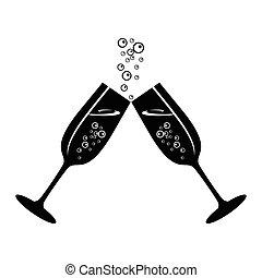 champagne celebratory glasses