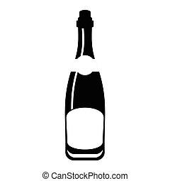 champagne bottle black
