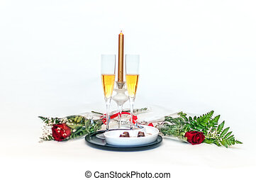 Champagne, chocolates and roses - 2