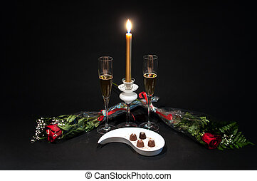 Champagne, chocolates and roses - 3