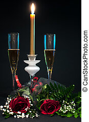 Champagne, chocolates and roses - 5