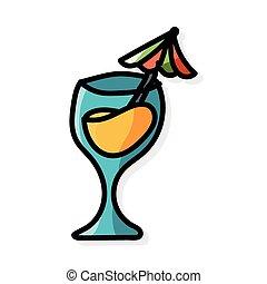 champagne color doodle