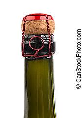 Champagne cork close up