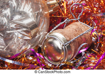 Champagne cork close up