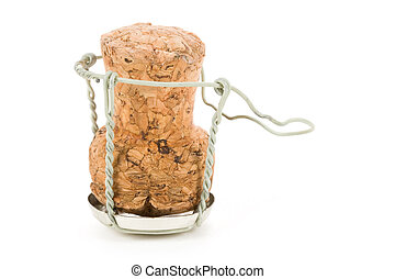 Champagne Cork Lid with white background