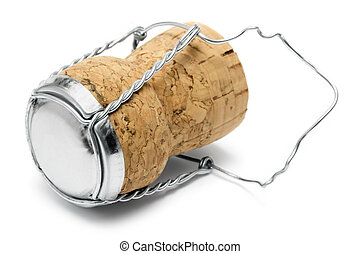 Champagne Cork Macro - Close-up on a champagne cork isolated...