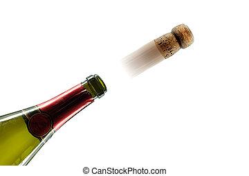 Champagne cork popping party celebration