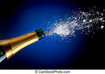 champagne qui pete
