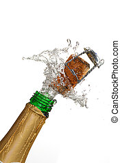 champagne, explosion