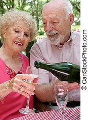 champagne, för, henne