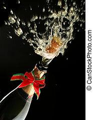 champagne fles, gereed, voor, viering