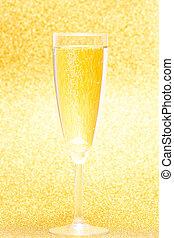 Champagne flute in golden