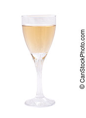 Champagne flute isolated on the white background