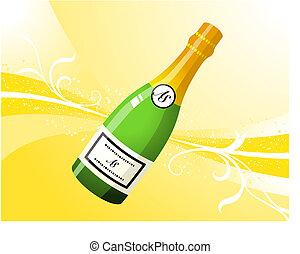champagne, fondo, internet