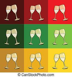 champagne., fondo