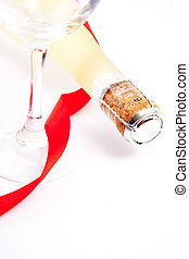 champagne for the celebration of Christmas