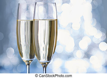 champagne glas white fun new year