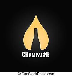 champagne glass bottle drop background