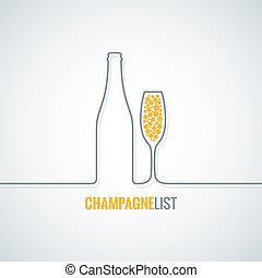 champagne glass bottle vector background