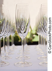 Champagne glass on a table