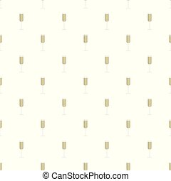 Champagne glass pattern seamless vector
