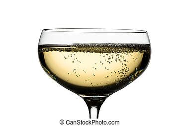 champagne glass with champagne - champagne with champagne...