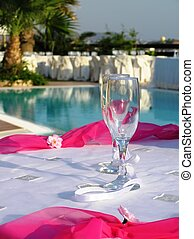 wedding reception - champagne glasses, at wedding reception
