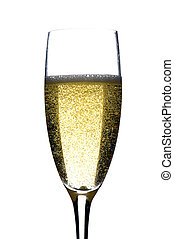 champagne glasses on white macro