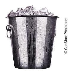 champagne ice bucket - champagne Metal ice bucket isolated...